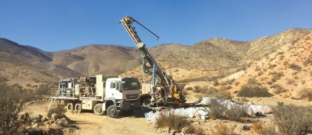 Trucks, cranes and equipment at Cortadera site